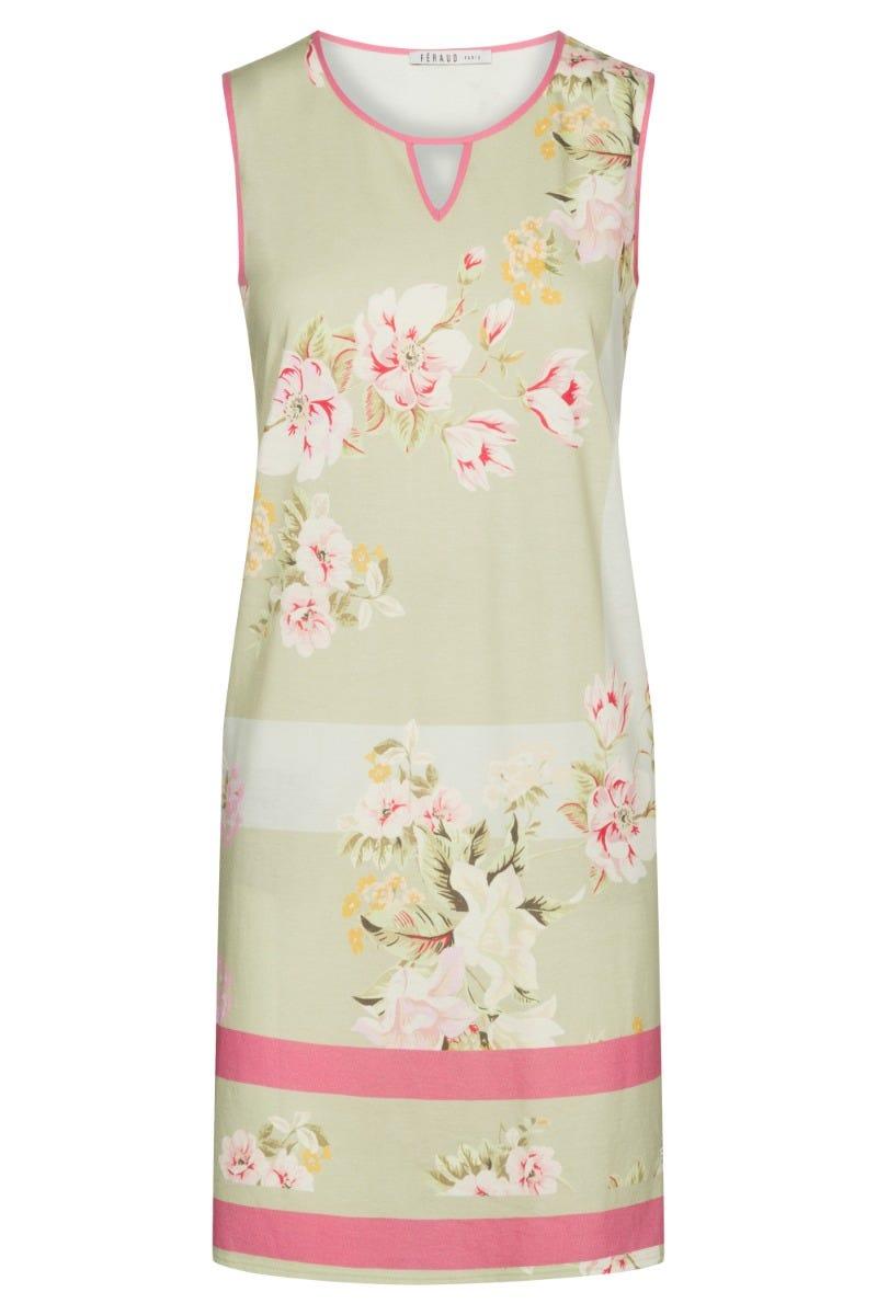 Bigshirt im Blumendessin Spring flowers geblümt pastellfarben Baumwolle/Modal 3211000