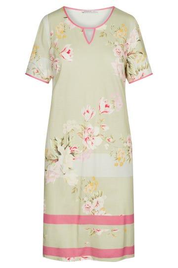 Nachthemd im Blumendessin Spring flowers geblümt pastellfarben Baumwolle/Modal 3211001
