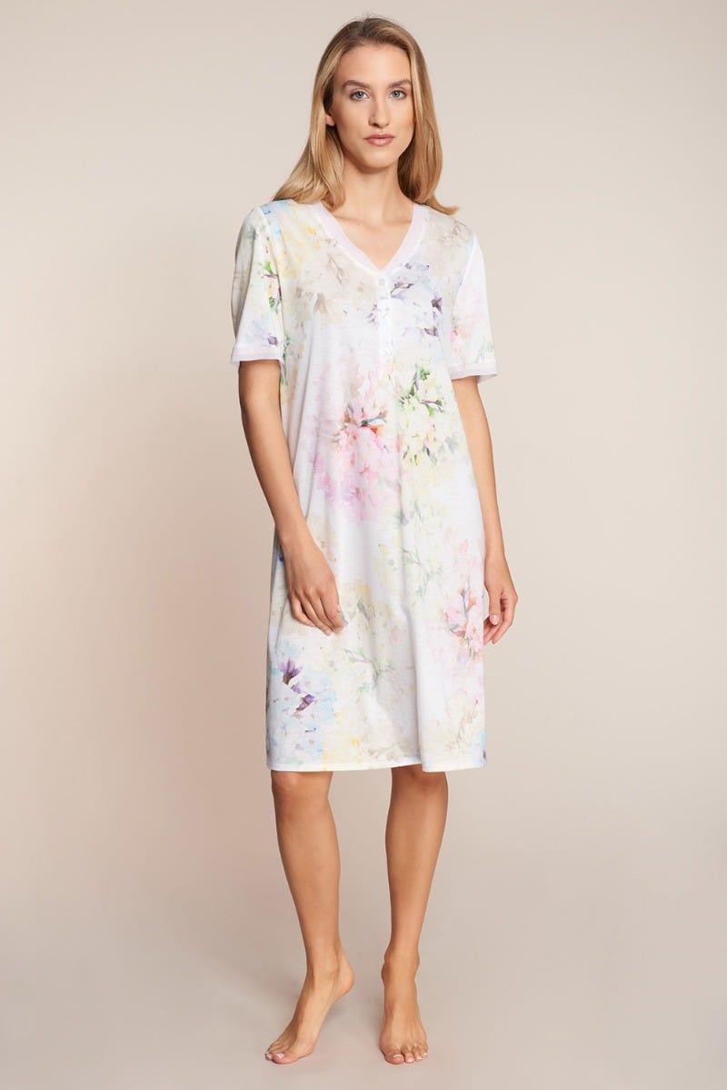 Bigshirt im pastelligen Blumenprint romantisch Baumwolle/Modal 3211016
