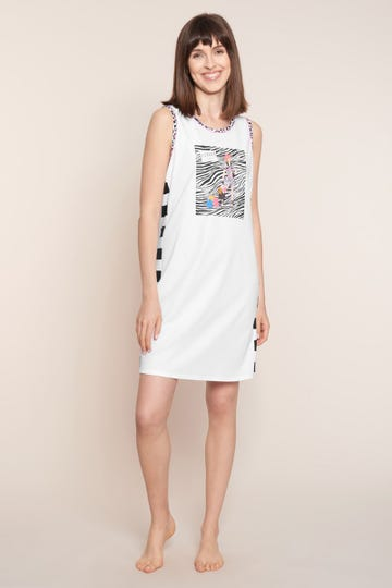 Bigshirt mit Printmotiv Fashion modern gestreift Animalprint 100% Baumwolle 3211026