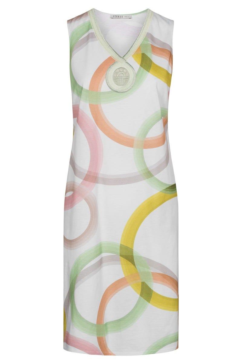 Bigshirt im Grafikprint Circles kreisförmig Stickerei frühlingsfarben 100% Baumwolle 3211034