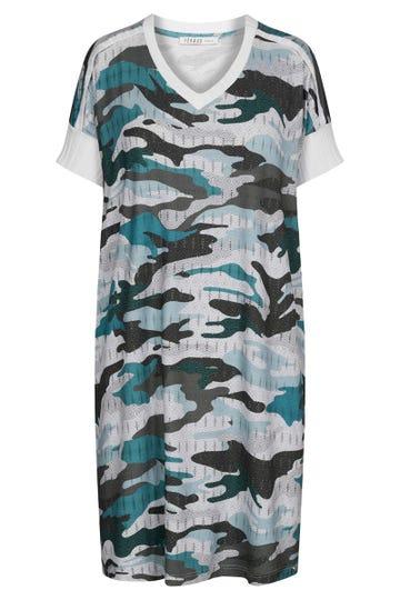 Bigshirt im Camouflage-Print Oversize Strickdetails Viskose/Elasthan 3211043