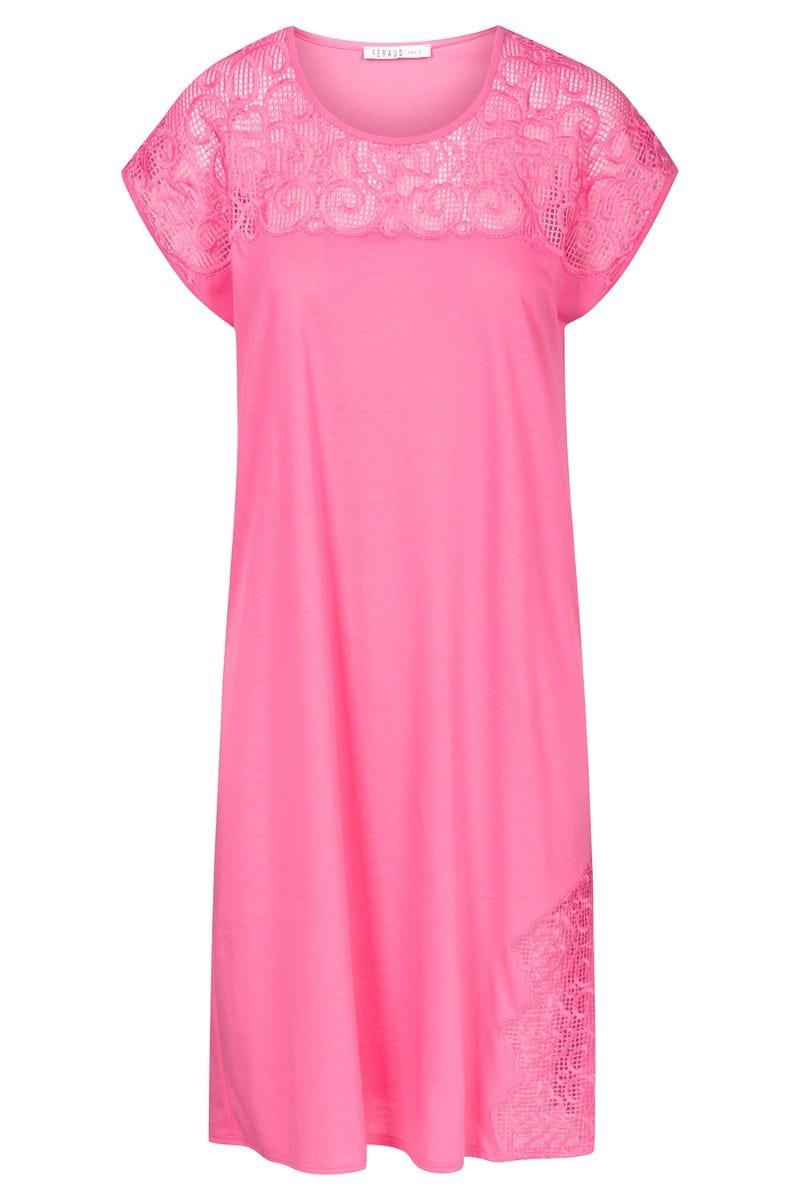 Bigshirt mit hochwertigen Stickereien dekorativ einfarbig 100 % Baumwolle 3211052