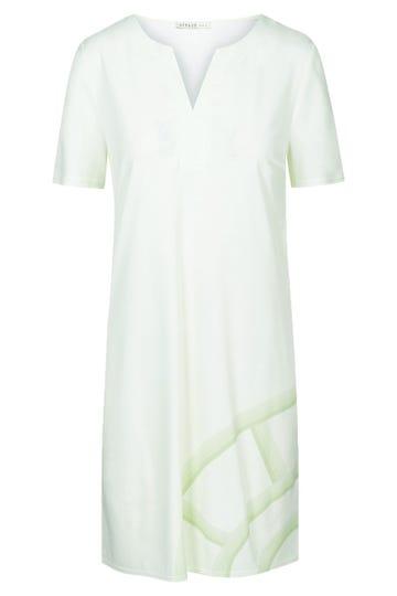 Bigshirt mit Logoprint in Pistazie Motivdruck simple clean 100% Baumwolle 3211065