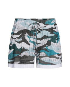Shorts im Camouflageprint lässig Mustermix Rippdetails Viskose/Elasthan 3211068