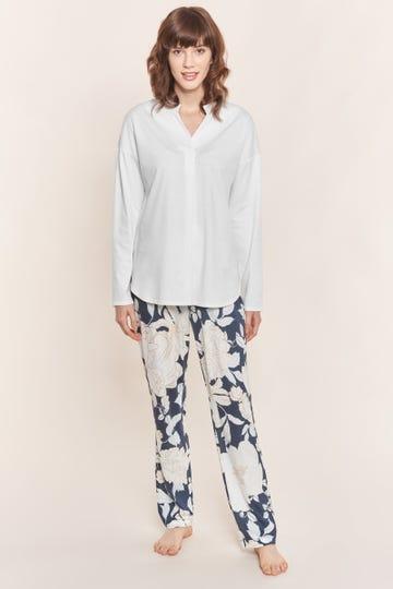 Pyjama mit Blumendruck romantisch Baumwolle