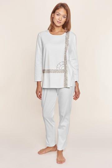Pyjama mit Logodetail und Grafikeinsätzen 100% Baumwolle