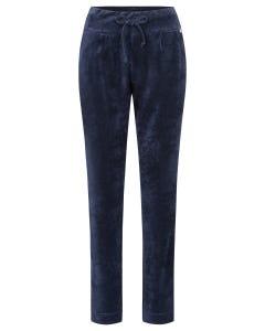 Nicki-Loungehose mit Bundfalten Marineblau kuschelig weich Mix und Match