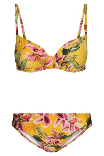 Bikini im exotischen Liliendruck geblümt Lycra 3215023