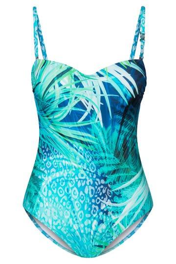 Badeanzug im Meeresprint Unterwasserwelt Bandeau Lyra 3215040