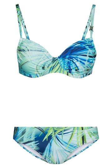 Bikini im Palmenprint exotisch Lycra 3215044