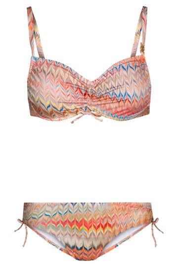 Bikini im orientalischen Zackenprint grafisch Lycra 3215064