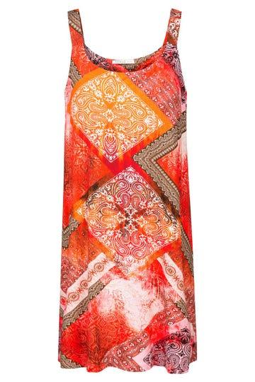 Trägerkleid im Ornament-Druck grafisch Strandkleid Viskose/Elasthan 3215091