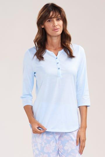 Smart Casual Basic Shirt mit 3/4-Ärmeln