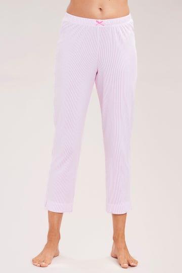 Basic 7/8-Pyjamahose mit Zierschleife